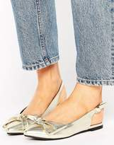 New Look Metallic Bow Slingback Shoe