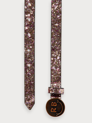 Scotch & Soda Glitter belt with happy face buckle | Girls