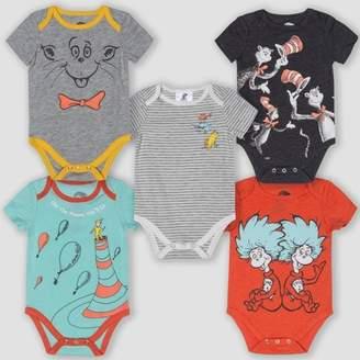 Dr. Seuss Baby 5pk Short Sleeve Bodysuits