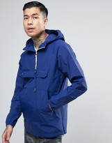 Pull&bear Overhead Jacket With Pouch Pocket In Blue