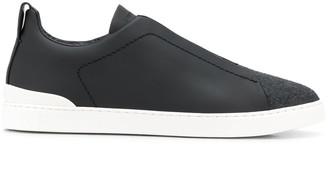 Ermenegildo Zegna Panelled Low Top Sneakers