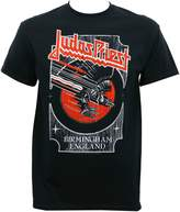 Global Judas Priest Men's Silver and Red Vengeance T-Shirt M