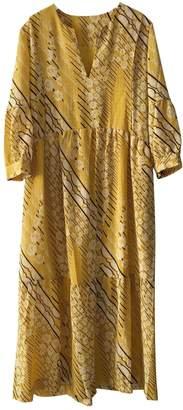 BA&SH Bash Fall Winter 2019 Yellow Silk Dresses