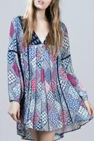 En Creme Floral Patchwork Dress