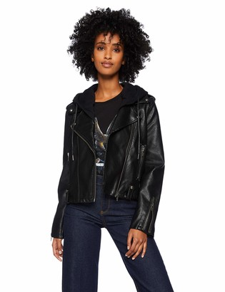 Blank NYC Women's Vegan Leather Hooded Jacket Outerwear
