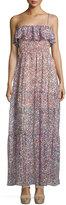 BCBGeneration Floral-Print Off-the-Shoulder Dress, Hot Coral Combo