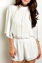 Honey Punch Ivory Batwing Romper