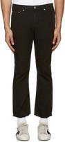 MSGM Black Raw Hem Jeans