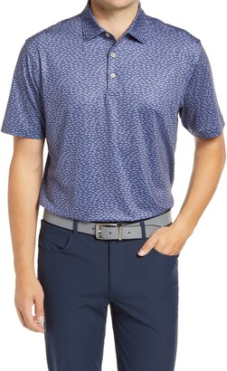 Peter Millar Fillmore Car Print Performance Polo