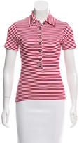 Tory Burch Short Sleeve Striped Top