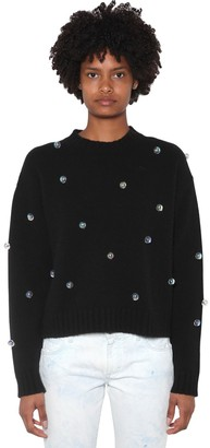 Alanui Embellished Wool & Cashmere Knit Sweater