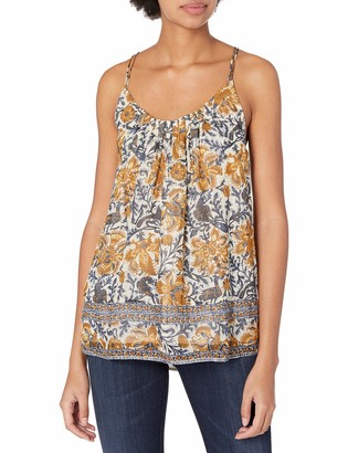 Lucky Brand Women's Yellow Floral Tank Top