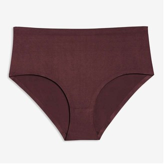 Joe Fresh Women+ High-Waist Brief, Plum (Size 1X)