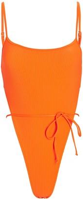 Frankie's Bikinis Croft Rib Knit One-Piece Swimsuit
