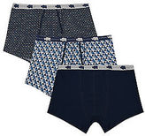 Yours Clothing BadRhino Plus Size Mens Underwear Multi Afront Trunks 3 Pack