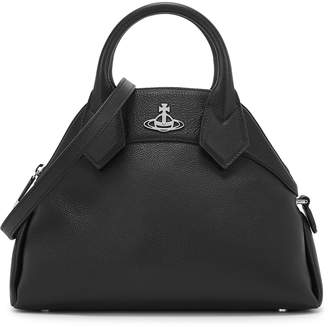 Vivienne Westwood Windsor Black Leather Top Handle Bag