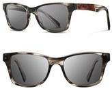 Shwood Men's 'Canby' 54Mm Acetate & Wood Sunglasses - Pearl Grey/ Elm Burl/ Grey