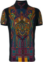 Etro abstract print polo shirt - men - Cotton - L