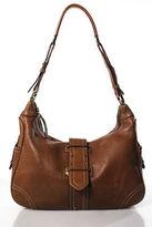 J.Crew J Crew Brown Leather Flap Closure Long Strap Shoulder Handbag