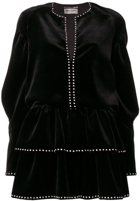 Saint Laurent studded velvet dress