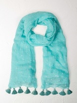 White Stuff Flocked print scarf