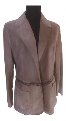Fendi Grey Leather Jackets