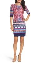 Eliza J Petite Women's Print Shift Dress