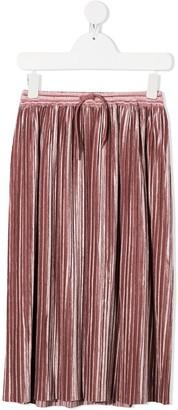 Molo Drawstring-Waist Pleated Skirt