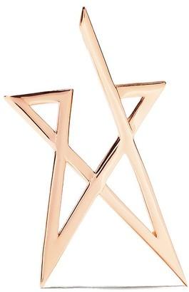 Kismet by Milka 14kt rose gold Struck Doodle maxi star earring