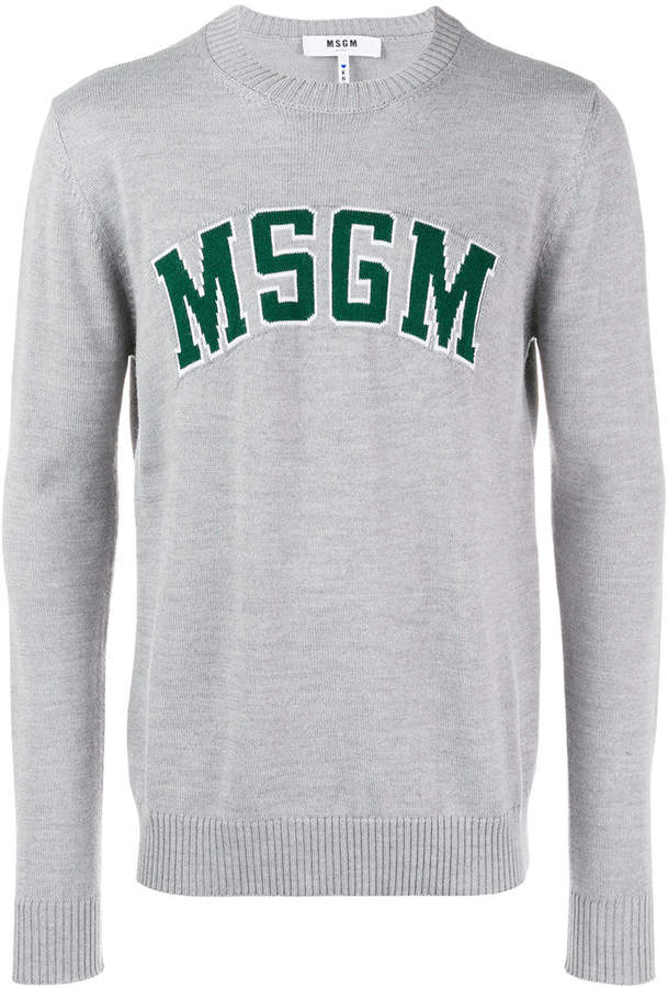 MSGM logo patch sweatshirt