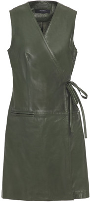 Muu Baa Muubaa Leather Mini Wrap Dress