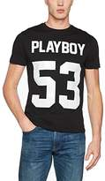 Playboy Men's Print Fifty-Three T-Shirt,(Manufacturer Size:)