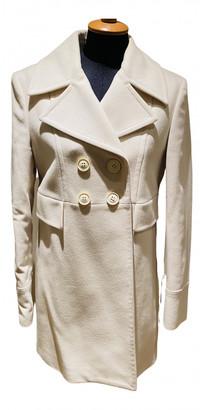 Stefanel White Wool Coats