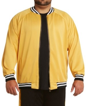 Mvp Collections By Mo Vaughn Productions Mvp Collections Men's Big & Tall Stripe Bomber Jacket
