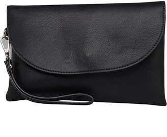 Fluid Womens Clutch Bag With Hand Strap Black