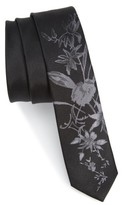 The Kooples Men's Floral Jacquard Silk Skinny Tie