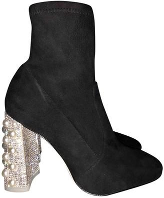 Sophia Webster Black Suede Ankle boots