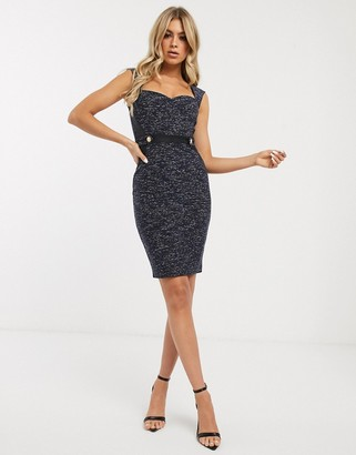 Lipsy PU insert pencil dress