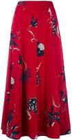 Dries Van Noten floral print skirt - women - Silk/Spandex/Elastane - 36