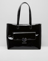 Love Moschino Patent Shopper Bag