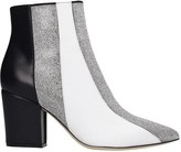 Sergio Rossi High Heels Ankle Boots In White Leather