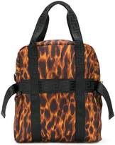Versace leopard backpack tote
