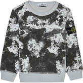 Stone Island Printed Cotton Sweatshirt 4-14 Years
