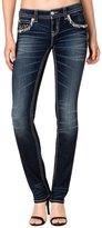 Miss Me Denim Jeans Womens Snowflake Straight Cut 25 Dark Wash JP7725T