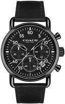 Coach Delancey Black Multi Dial Black Leather Strap Mens Watch