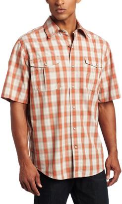 Carhartt Men's Big & Tall Bozeman Short Sleeve Shirt Snap Front Poplin Relaxed Fit