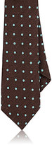 Barneys New York Men's Polka Dot Silk Necktie-BROWN