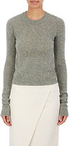 Acne Studios Women's Stockinette-Stitched Wool Crop Sweater-GREEN