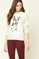 Forever 21 FOREVER 21+ French Bulldog Sweatshirt