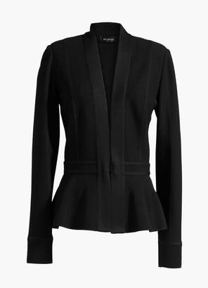 St. John Corseted Engineered Texture Peplum Jacket